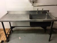 Commercial Sink for sale, good working condition, used in a chocolate making kitchen