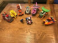 Paw patrol figure and vehicles