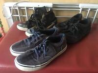Vans and converse trainers size 4