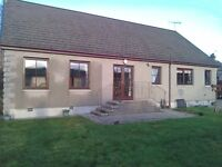 A delightful 3 bedroom bungalow with stunning view of the country side in Auchleven, Insch.