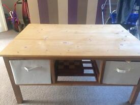 Wood dining/coffee table