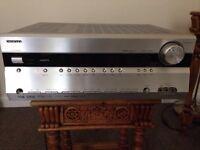 Onkyo TX -SR 606 AV Reciever Home Cinema Amp With Speakers & Remote