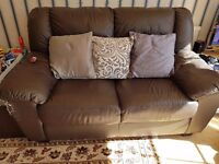 FREE! Leather sofas. Two and three seater.