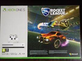 Xbox One S 500GB Console - Rocket League Blast-Off + Assassins Creed Origins + Xbox Live Gold