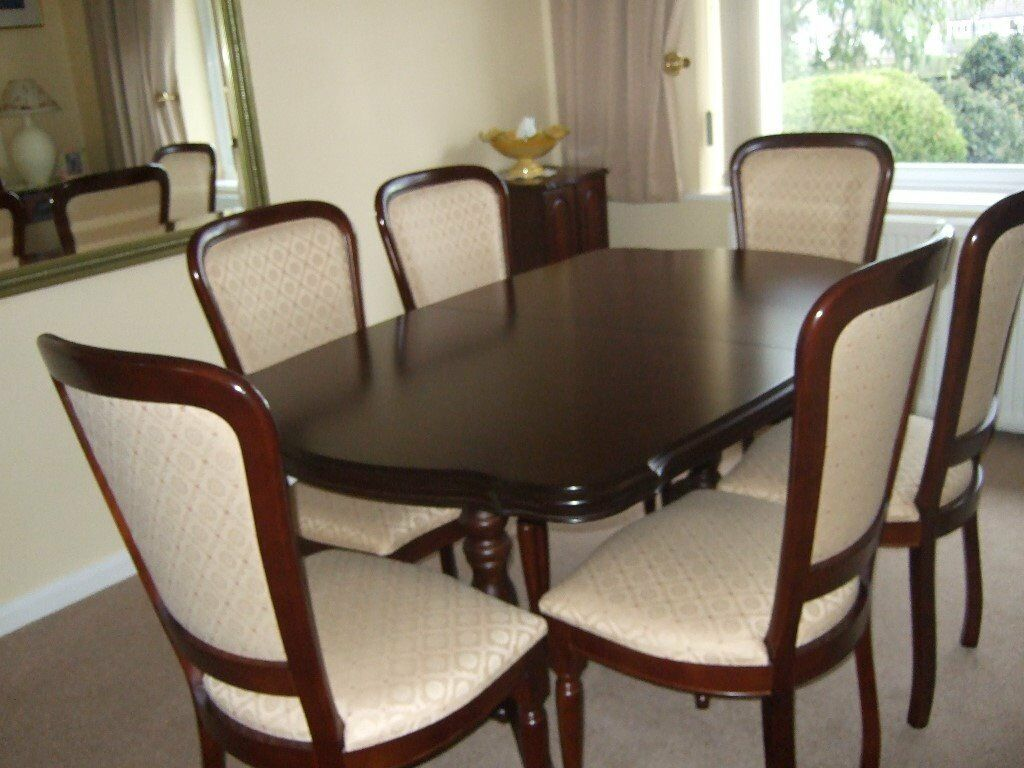 Rossmore Mahogany Extending Dining Table 6 Chairs A Display Unit All In Immaculate Condition