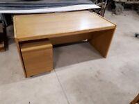 solid timber desk