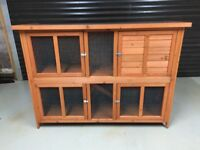 Large 2 Storey Rabbit or Guinea Pig Hutch (can deliver)+ Extras. Exc Con
