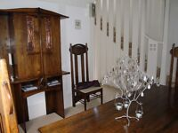 C R Mackintosh designed dining room / board room furniture