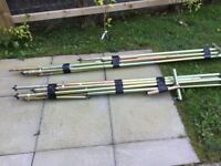 Steel awning poles