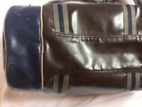 Fred Perry Barrel Bag, Navy/Maroon