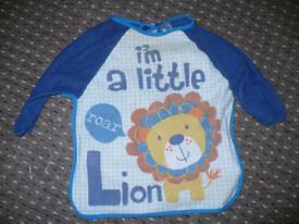 8x Mothercare and TU coveralls/ aprons for baby 6-9-12 mths to 1.5-2-3 years old.