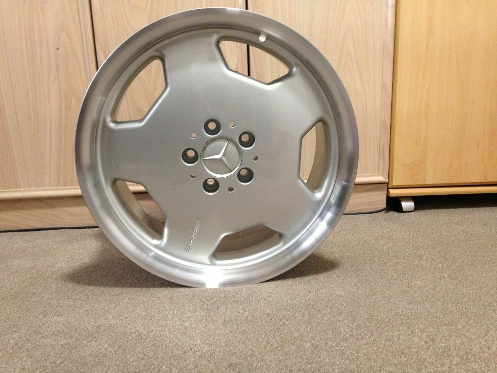 Rare original mercedes benz 18 amg monoblock alloy wheels for Mercedes benz mag wheels