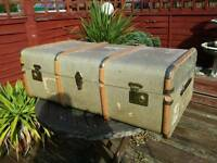 Large vintage steamer vintage original travel trunk