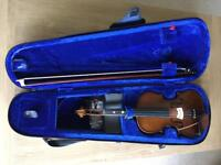 3/4 Size Violin - Excellent Condition, complete with case and accessories