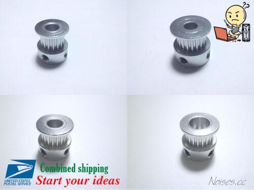 GT2 16T 20T Width 6mm/10mm Aluminum Timing Belt Pulley 5/6.35/8mm 3D Printer CNC