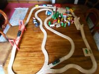 Trainset - BRIO - 2 re-chargeable locomotives, lots of wooden track and more!