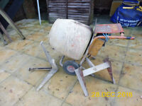 Cement mixer and other building equipment