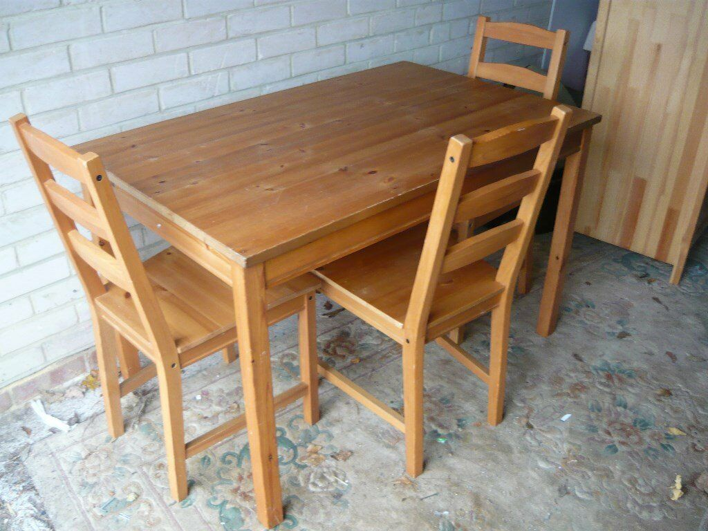 ikea pine kitchen table