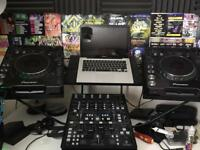 Pioneer 1000s with DDm4000 mixer and wing stand