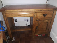 Beautiful Mango Wood desk - as new - need the space!
