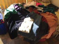 Large black sack of ladies clothes