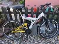 Mens/large boy suspension mountain bike 23 inch wheel
