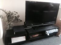 Television + Tv Unit & Side Table