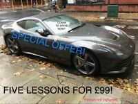 SPECIAL OFFER! FIVE LESSONS FOR £99 | AUTOMATIC