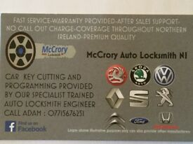 Any car key cut and programmed free call out Armagh 07715676251