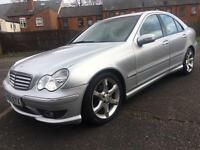 MERCEDES C180 KOMPRESSOR SPORT EDITION 12 MONTHS MOT LOW LOW MILES 56000 FACELIFT 2005
