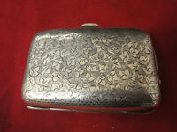 silver cigarette case with foliate design fully hall maked in great condition cica 1899/1900