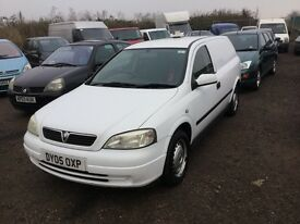 2005 Vauxhall Astra diesel van in vgcondition lovely driving van any trial welcome in white