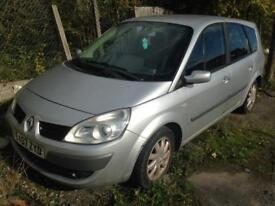 Renault scenic 2007 spares and repairs, 7 seater