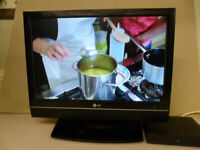 Slim 19 inch LG LCD TV With HDMI and Freeview