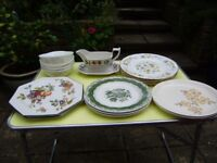 Variety of crockery, glassware and tea pots, great quality and condition
