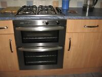 stoves elctric double oven + gas hob