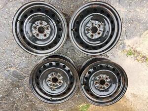 4 roues d acier 15 pouces honda civic