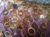 Bundle of bracelets. Costume jewellery