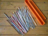 Large selection of knitting needles