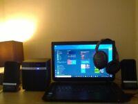 Excellent TOSHIBA Satellite Laptop, Xtra Bass Brand New 2.1 Speaker, Panasonic Extra Bass Headphone