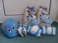 Roller skates (inline or quad) (blue)