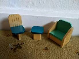 Modern wooden toy furniture