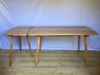 Ercol vintage plank dining table and extention extension