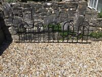 3 Metal wall railings, size 1.8 ins x 6ft. Total length 18 ft. Surplus to requirements