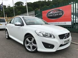 2011 (11 reg) Volvo C30 1.6 D2 R-Design 2dr Coupe Turbo Diesel 6 Speed Manual Low Miles