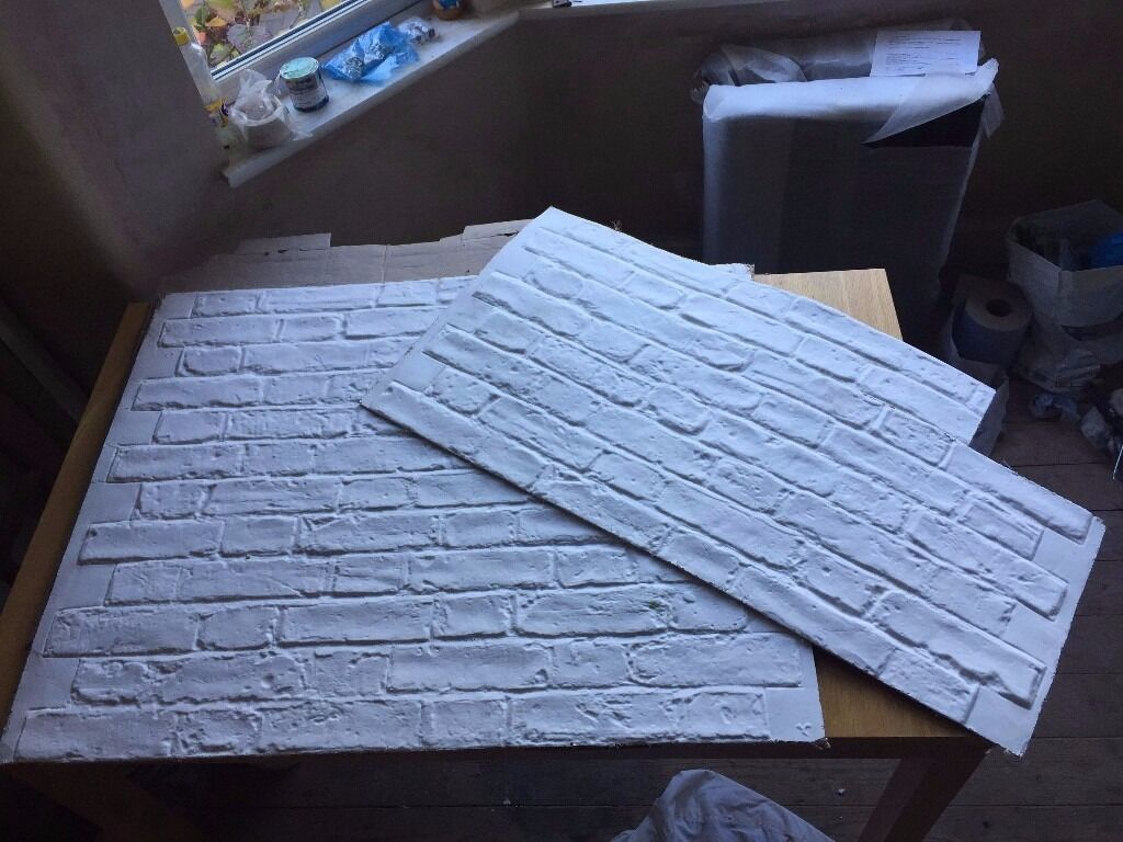 Plaster Faux Brick Sheets - Alternative to Tiles - For kitchen ...