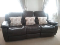 2 and 3 seater leather sofa recliners