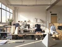 Desks for rent in creative studio on Vyner Street Hackney