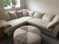 Corner Sofa With Foot stool & Single Armchair