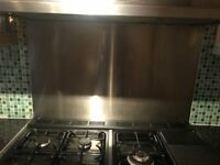 Rangemaster S/S 110 cooker hood with splash back O.N.O